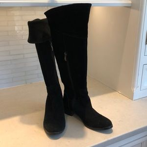 Vince Camuto.  Black Suede Boots.  Size 7